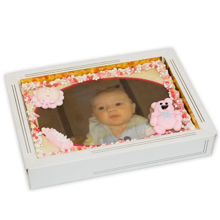 Chocolade tablet geboorte - met foto