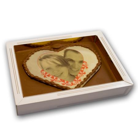 Hart van chocolade met foto