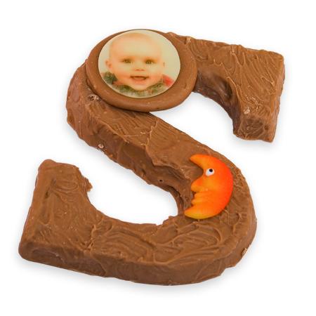 Chocolade letter met foto